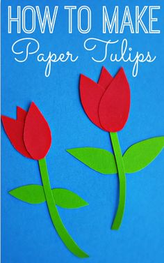 If you want to know how to make paper tulips this is the right spot! I show you step by step with pictures on how to make a beautiful tulip craft for kids.