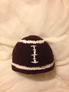 Crochet Infant Football Cap