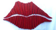 Red Lips, Salon Decor, Kiss, Pallet Wall Art, Wall Art, Love, Marilyn Monroe Lips,Rustic Art, Red Lipstick, Romance, Wood Lips, Large Lips by stonewoodrustics on Etsy