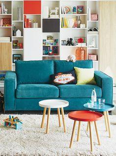 Salon CALIFORNIA - Alinéa - Jeu concours Pinterest - A gagner : Un canapé d'une valeur de 499€ ! Jouez sur : https://www.pinterest.com/alinea/les-salons-color%C3%A9s/