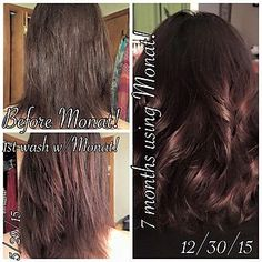 MONAT - We are MODERN NATURE! The longer you use Monat products, the healthier your hair will become! Look at the results below with 7 months use!