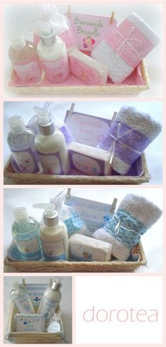 Kits para bebé: jabón de glicerina, algodones, toallita, óleo calcáreo y shampoo