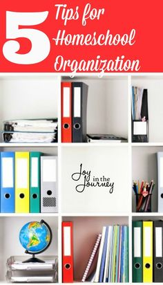 Homeschool organization is important in homeschooling, and being a little organized will help a lot.Here are five tips for homeschool organization that will help you on your homeschool journey!