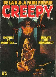 Scary Monsters, Famous Monsters, Sci Fi Horror, Horror Comics, Creepy Comics, Comic Art, Comic Books, Ec Comics, Halloween Eve