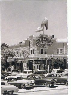 Check out this slipper building!  Silver Slipper Gambling Hall, 1950s.  Las Vegas, NV.