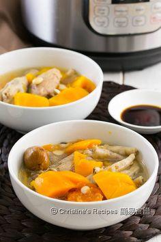 紅木瓜雞腳豬展湯 Papaya and Chicken Feet Soup Instant Pot02