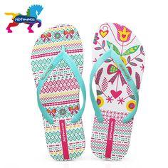 b929eca362befb Hotmarzz Women Comfy Unique Print Flat Flip Flops Ladies Home House Summer Beach  Slippers Thong Sandals