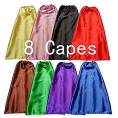 Superhero Dress Up Children Capes set of 8 -- Learn more by visiting the image link.