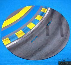 "Diorama ""Track Curve_Le Mans"". 1/32 scale  #slot #slotcar #scalemodel #scalextric #dtm #wec #wtcc #diorama #scenary #base #curva #circuito #track #dreamcar #peana #lemans #lemans24h #24h Le Mans, Diorama, Slot, Curve, Scale, Circuit, Weighing Scale, Dioramas, Libra"
