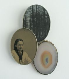 BETTINA SPECKNER (brooch), 2013. Ferrotype, photoetching in zinc, silver, agate
