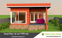 Searching for Low budget 650 Sq ft Kerala Style Veedu ? then here is a modern low budget 2 Bedroom villa concept. Indian Home Design, Kerala House Design, Small House Design, Modern Exterior House Designs, Modern House Design, Exterior Design, Modern Houses, Villa Design, Facade Design