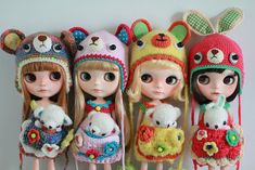 the bears & bunny | We received these adorable crochet sets … | Flickr