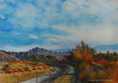 The Path Less Travelled watercolor, painting by artist Diane Morgan
