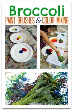 Have you ever painted using broccoli? The prints are really cool.