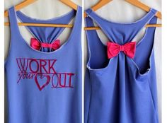 DIY workout top.  I absolutely love this idea! ~Cat~<3