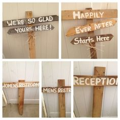 Wooden Signs For Reception $105