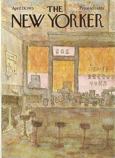 New Yorker cover by James Stevenson of by TheBestofSonoma on Etsy