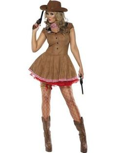 c190ee5500e Womens Cowgirl Fancy Dress Costume and Neck Scarf