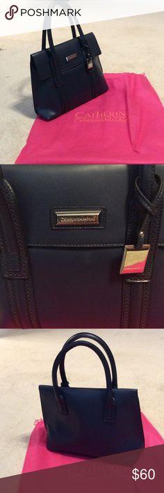 CATHERINE MALANDRINO (Navy Blue) Beautiful large size navy blue purse with dust bag. Catherine Malandrino Bags Shoulder Bags