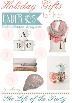 Holiday Gifts {Under $25}
