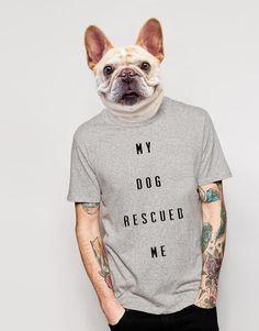 Camiseta My Dog Rescued Me. Disponível em diversas cores e modelos no nosso site!