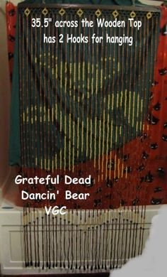 Grateful Dead Bear - Wooden Beaded Doorway Curtain  $85.00 via HearseDrivingFemale