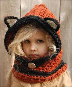 Flint Fox Crochet Hooded Cowls