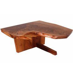 George Nakashima Minguren I End Table 1977 ... my mom has a large Nakashima table; gorgeous, but the edges are vicious!