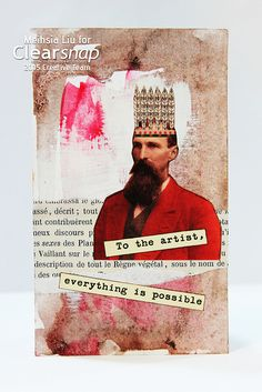 Meihsia Liu Simply Paper Crafts Book Page Collage Index Card Clearsnap Turn office supplies like index cards, old books, and more into stunning mixed media pieces. Meihsia Liu shares how on the Clearsnap Blog: http://blog.clearsnap.com/2015/11/index-card-collage-with-old-book-page/     What office supplies have you used in your crafts or art pieces?
