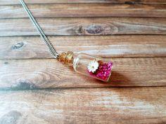 Edelstahl-Halskette Flasche mit Anhänger von RainbowFairground auf Etsy