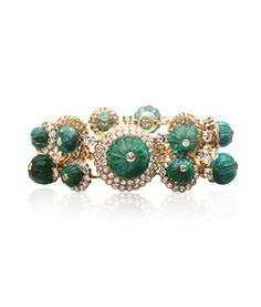 Van Cleef & Arpels. The set of Her Highness Princess Salimah Aga Khan. Indian bracelet (one of a pair transformed from the necklace), 1971, Private Collection