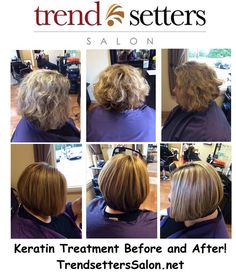 Keratin treatment before and after at www.TrendsettersSalon.net