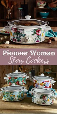 I'll take one of each, please! Lol. I love my Pioneer Woman slow cooker! I like that she has so many color options too so you can match it with your other kitchen tools. Pioneer Woman 6 Quart Portable Slow Cooker Country Garden | Model# 33364 By Hamilton Beach #ad #pioneerwoman #slowcooker #kitchen #cooking #crockpotrecipes #crockpot #dinner #ranch #country #floral #walmart