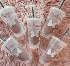 Disney Inspired Personalized Starbucks Venti Reusable Cold Cup Mickey or Minnie Head, Rose Gold Minnie, Plastic Tumbler, Disney Tumbler, Disney Starbucks, Starbucks Venti, Starbucks Tumbler, Starbucks Drinks, Personalized Starbucks Cup, Custom Starbucks Cup, Personalized Cups, Disney Cups, Custom Cups