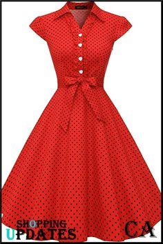 New Look Dresses, Modest Dresses Casual, Stylish Dresses, Fashion Dresses, Sewing Dresses For Women, African Dresses For Women, Vintage 1950s Dresses, Retro Dress, Swing Dress 50s