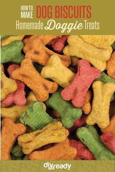 Homemade Dog Biscuits, learn howto make them here: http://diyready.com/homemade-dog-biscuits-recipe-instructions