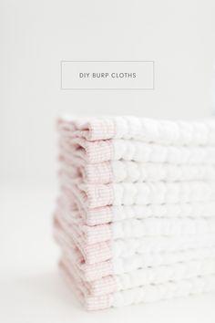 DIY burp cloths - the best burp cloths ever! Super absorbent and beautiful.