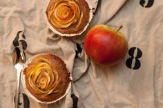 Apple Rose Pie Cupcake Apple Rose Pie, Apple Roses, Peach, Cupcakes, Fruit, Food, Apple Pie Cake, Simple, Cup Cakes