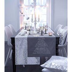 Tischläufer, Silberverzierung, Baumwolle Katalogbild