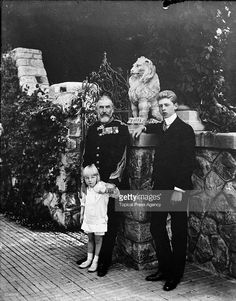 Carol I (1839-1914), King of Romania with his grandsons.
