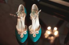 teal wedding shoes from Seychelles