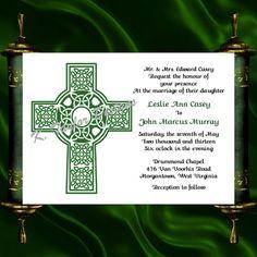 100 Personalized Custom Irish Celtic Cross Bridal Wedding Save The Date Cards