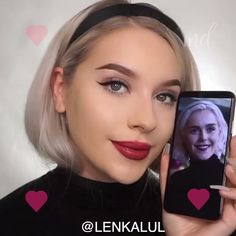 Sabrina Spellman Inspired Makeup Tutorial - Get ready for the new CAOS season with this amazing Sabrina Spellman inspired look! Glam Makeup, Love Makeup, Beauty Makeup, Makeup Videos, Makeup Tips, Makeup Tutorials, Iridescent Eyeshadow, Simple Makeup Looks, Sabrina Spellman