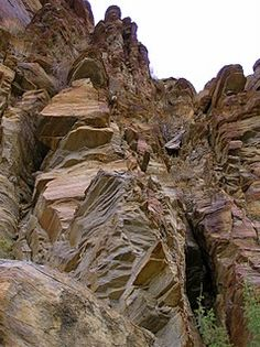 San Andreas Fault in Palm Springs, California - We walked in the canyons formed by the fault line.