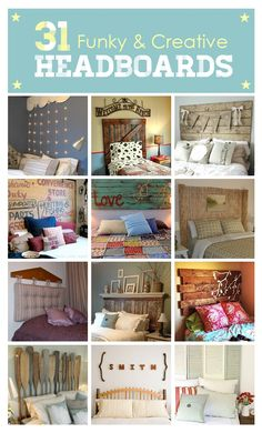 Adorable headboards! I especially like the one with the hanging lights.