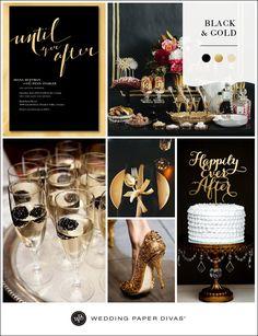 Black and Gold Wedding Inspiration | Wedding Paper Divas Blog