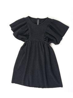 NR.144-122011-DL Mädchen-Kleid - Bindeband