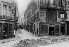 Rue Maitre Albert (from Quai de la Tournelle), Paris, 1858-78. Photo by Charles Marville.