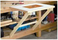Woodworking Bench Fold Away Router Table - If you're looking for ideas to build a router table, read this page. We've collected 39 of the best DIY router table plans, videos, and PDFs. Learn Woodworking, Popular Woodworking, Woodworking Furniture, Woodworking Plans, Woodworking Projects, Custom Woodworking, Woodworking Router Table, Woodworking Apron, Youtube Woodworking