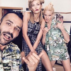 with Lara Stone, Cannes 2015